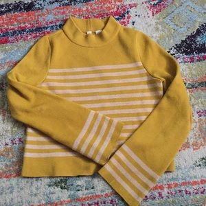 Anthropologie striped structured sweater